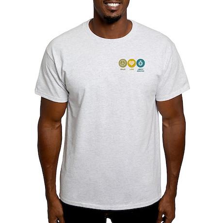 Peace Love Credit Analysis Light T-Shirt