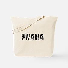 Praha Faded (Black) Tote Bag