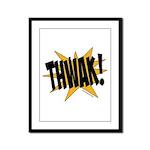 THWAK! Framed Panel Print