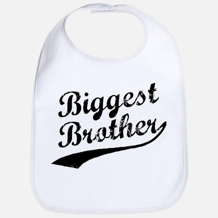 Biggest Brother (Black Text) Bib