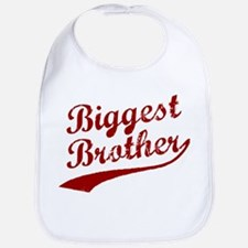 Biggest Brother (Red Text) Bib