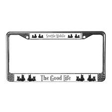 Scottish Terrier Good Life Do License Plate Frame