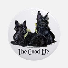 Scottish Terrier Good Life Do Ornament (Round)