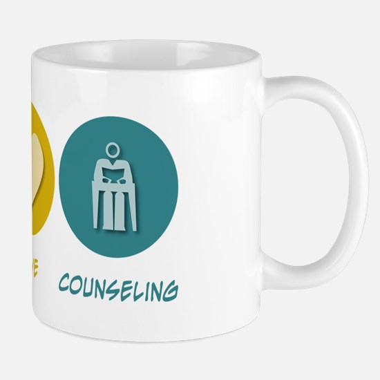 Peace Love Counseling Mug