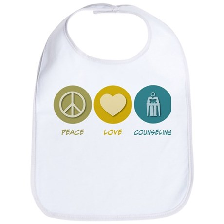 Peace Love Counseling Bib