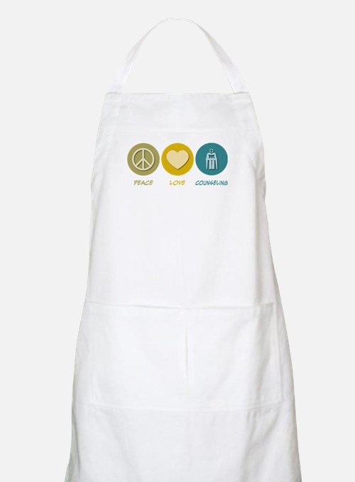 Peace Love Counseling BBQ Apron