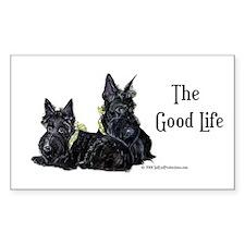 Scottish Terrier Good Life Do Rectangle Sticker 1