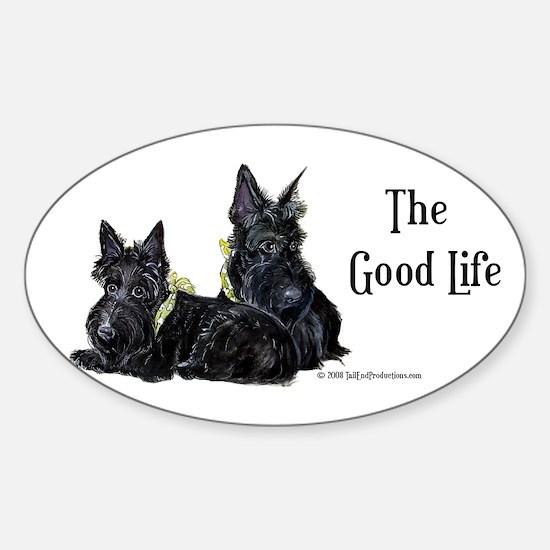 Scottish Terrier Good Life Do Oval Sticker (10 pk)