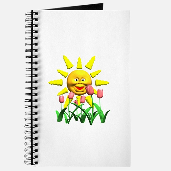 Happy Sun and Tulips Journal
