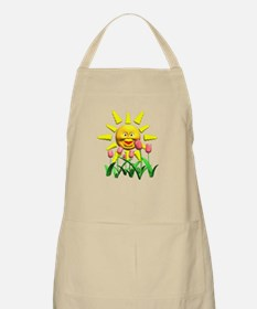 Happy Sun and Tulips BBQ Apron