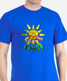 Happy Sun and Tulips T-Shirt