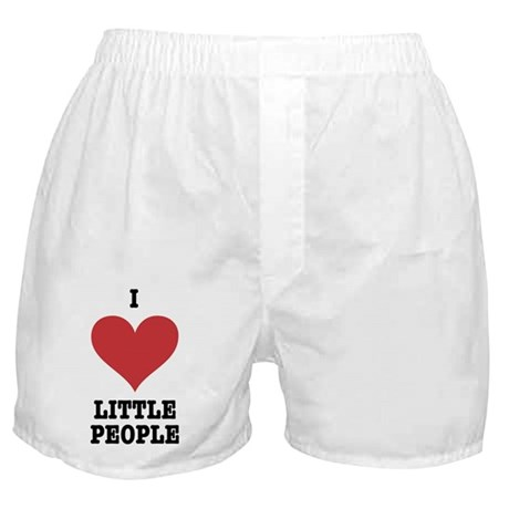 I Heart Little People Boxer Shorts