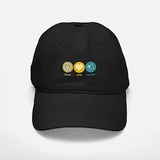 Peace Love Cotton Baseball Hat