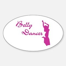 Pink Belly Dancer Oval Decal