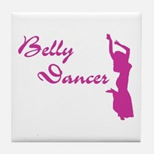 Pink Belly Dancer Tile Coaster