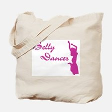 Pink Belly Dancer Tote Bag