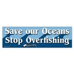 Stop Overfishing bumper sticker