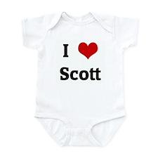 I Love Scott Infant Bodysuit