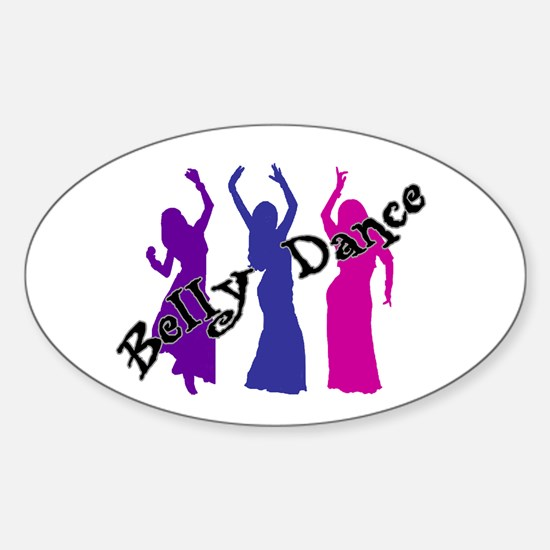 Belly Dance Trio Oval Decal