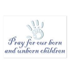Pray children (hand) Postcards (Package of 8)