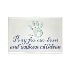Pray children (hand) Rectangle Magnet