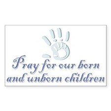 Pray children (hand) Rectangle Decal