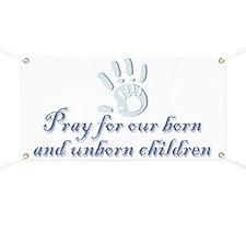 Pray children (hand) Banner