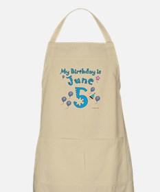 June 5th Birthday BBQ Apron