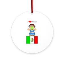I Love Mexico Keepsake (Round)