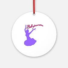 Purple Bellydancer Keepsake (Round)