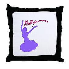 Purple Bellydancer Throw Pillow