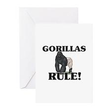 Gorillas Rule! Greeting Cards (Pk of 10)