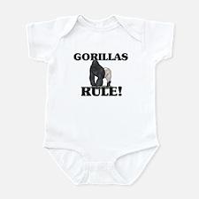Gorillas Rule! Infant Bodysuit