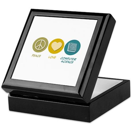 Peace Love Computer Science Keepsake Box