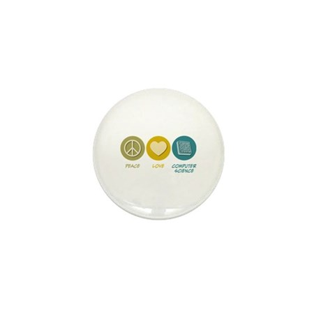 Peace Love Computer Science Mini Button (10 pack)