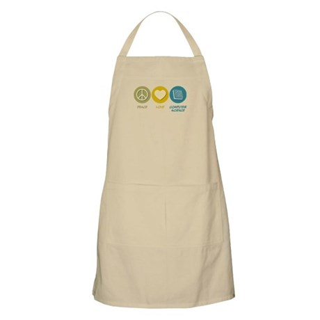 Peace Love Computer Science BBQ Apron