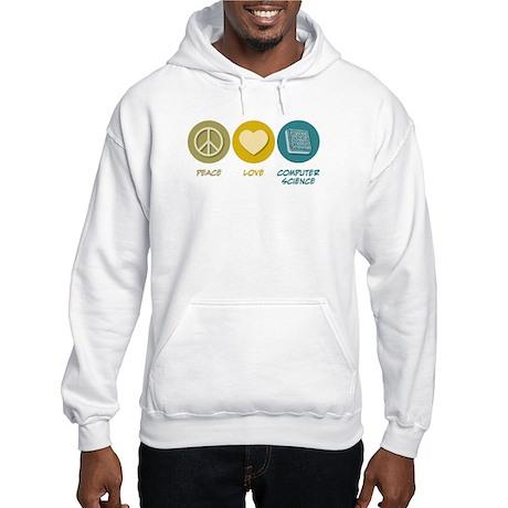 Peace Love Computer Science Hooded Sweatshirt
