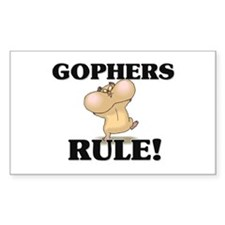 Gophers Rule! Rectangle Decal