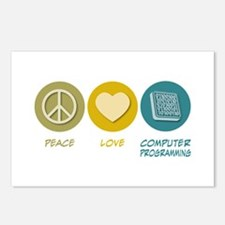 Peace Love Computer Programming Postcards (Package