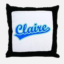Retro Claire (Blue) Throw Pillow