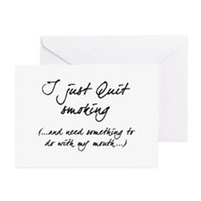 Quit Smoking - Mouth Greeting Cards (Pk of 20)