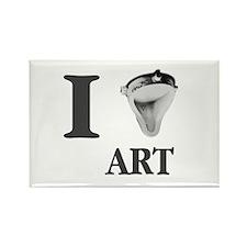 I Love Art-Duchamp Rectangle Magnet