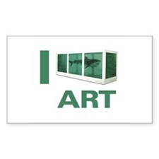 I Love Art-Hirst Rectangle Decal