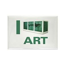 I Love Art-Hirst Rectangle Magnet
