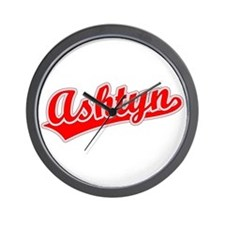 Retro Ashtyn (Red) Wall Clock