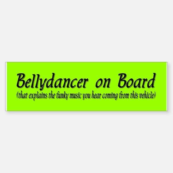 Bellydancer on Board Bumper Car Car Sticker