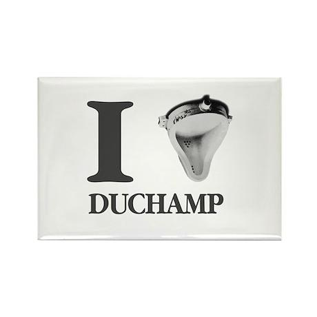 I Love Duchamp Rectangle Magnet