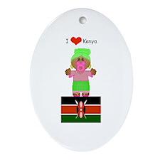 I Love Kenya Keepsake (Oval)