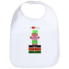 I Love Kenya Bib