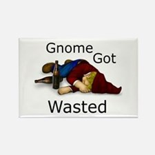 Gnome Got Wasted Rectangle Magnet